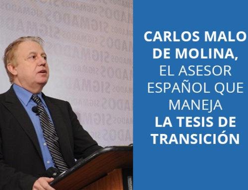 Carlos Malo de Molina, el asesor español que maneja la tesis de transición